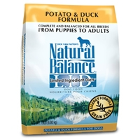 Natural Balance Potato & Duck Dry Dog, 15 Lb