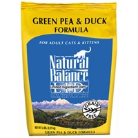 Natural Balance Limited Ingredient Diets Green Pea & Duck Dry Cat Food 6/5 lb.