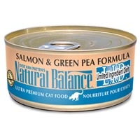Natural Balance Limited Ingredient Diets Salmon & Green Pea Canned Cat Food 6 oz.