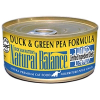 Natural Balance Limited Ingredient Diets Green Pea & Duck Canned Cat Food, 6 oz.