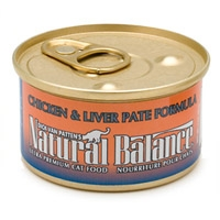 Natural Balance Chicken & Liver Canned Cat Food 6 oz.