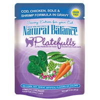 Natural Balance Platefulls Cod, Chicken, Sole & Shrimp Formula in Gravy, 24/3 Oz