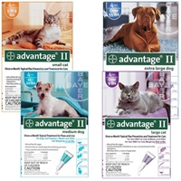 Advantage II Flea Treatment Extra Large Dog Blue 6 Month Supply, 56+ Lbs