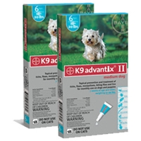 Advantix II Medium Dog Teal 2 Pack