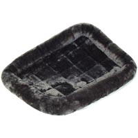 Midwest Quiet Time Fur Pet Bed Gray