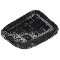 Midwest Quiet Time Pet Bed - Plush Fur Pearl Gray - Model #40236-GY