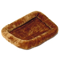 Midwest Quiet Time Pet Bed - Plush Fur Cinnamon - Model #40242-CN