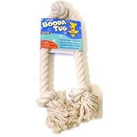 Aspen Pet White Booda - 3-Knot Rope Tug - Large