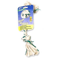 Aspen Pet FRESH N FLOSS 2KNOT BONE SMALL WHITE