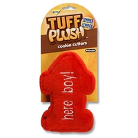Aspen Pet Tuff Plush Cookie Cutter - Large Here Boy