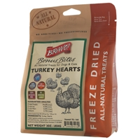 Bravo! Freeze Dried  Turkey Hears - 2 oz.
