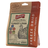 Bravo! Freeze Dried  Turkey Livers - 3 oz.