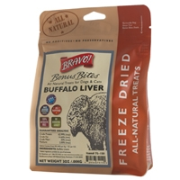 Bravo! Freeze Dried Buffalo Livers - 3 oz.