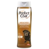 8in1 Perfect Coat Medicated Shampoo 16 oz.