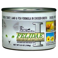 Felidae Platinum Chicken/Turkey/Lamb/Fish - 12/5.5 oz. Can cs.