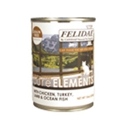 Felidae Grain Free Pure Elements Chicken/Turkey/Lamb/Fish - 12/13 oz. Can Cs.