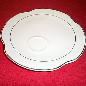 Scalloped Lunch Plate