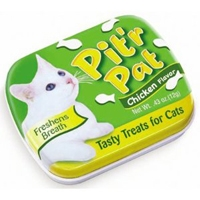 Chomp Pit'R Pat Breath Fresheners for Cats (Chicken) .25 oz. Tin