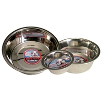 Loving Pets Striped Stainless Steel Dish 1 Pint