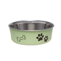 Loving Pets Bella Bowl Pesto Green Small