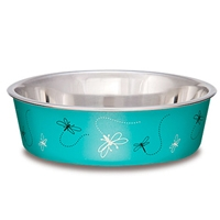Loving Pets Bella Bowl Medium Dragonfly- Turquoise