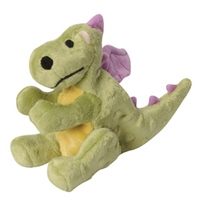 GoDog Mini Dragon Lime Green with Chew Guard