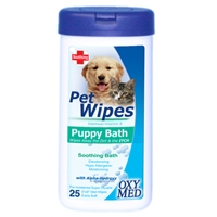 Tropiclean Oxy-Med Puppy Bath Wipe 8 oz.