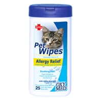 Tropiclean Oxy-Med Allergy Wipe 8 oz.
