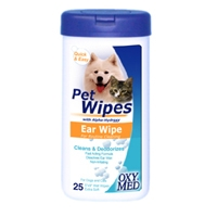 Tropiclean Oxy-Med Ear Bath Wipe 8 oz.