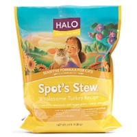 Halo Spot's Stew Sensitive Cat Wholesome Turkey 4/6 lb.