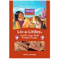 Halo Liv-A-Littles Whole Beef Treats Pouch 1.2 oz.