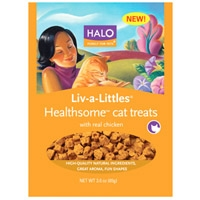 Halo Liv-A-Littles Healthsome Cat Treat Chicken, 3 oz.