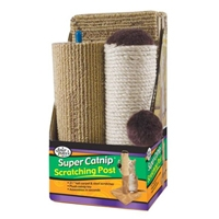 Four Paws 3 Piece Cat Scratcher Sisal/Carpet