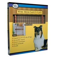 Four Paws Wood Frame Gate with Coated Wire Dark Stain