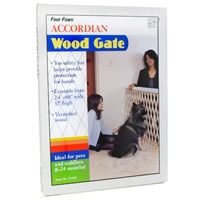 Four Paws Accordion Wood Gate