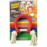 Four Paws Rough & Rugged Horseshoe & Rope
