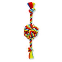 "Mammoth Pet Large 18"" Float Rope Monkey Fist Ball w/Rope Ends"