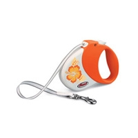 Flexi Hawaii Orange Small/Medium, 33 lbs, 16FT