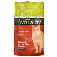 AvoDerm Natural Chicken & Herring Meal Adult Cat Food 14 lb.
