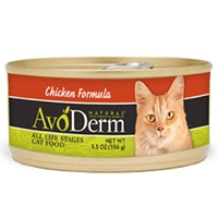 AvoDerm Natural Chicken Formula Cat Food 24/5.5 oz.