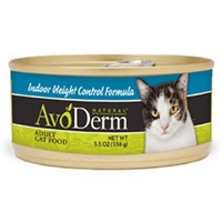 AvoDerm Natural Indoor Weight Control Formula Cat Food 5.5 oz.