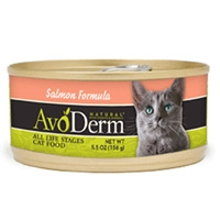 AvoDerm Natural Salmon Formula Cat Food 24/5.5 oz.