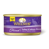 Wellness Cat Cuts Sliced Turkey and Salmon, 24/3 Oz