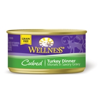 Wellness Cat Cuts Cubed Turkey, 24/3 Oz