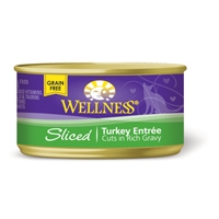 Wellness Cat Cuts Sliced Turkey, 24/3 Oz
