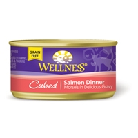 Wellness Cat Cuts Cubed Salmon, 24/3 Oz