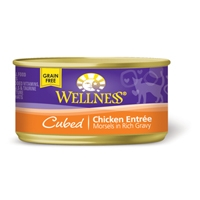 Wellness Cat Cuts Cubed Chicken, 24/3 Oz