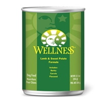 Wellness Canned Dog Super5Mix Lamb 12/12.5 oz Case
