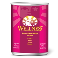 Wellness Canned Dog Super5Mix Duck 12/12.5 oz Case