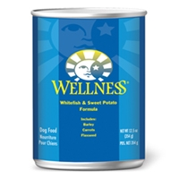 Wellness Canned Dog Fish & Sweet Potato 12/12.5 oz Case